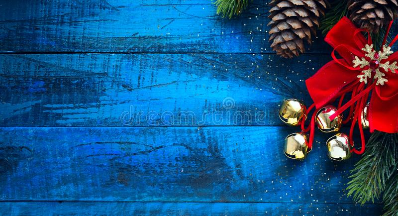 Christmas banner. Background Xmas design for Horizontal christmas poster, greeting cards, headers, website stock photo