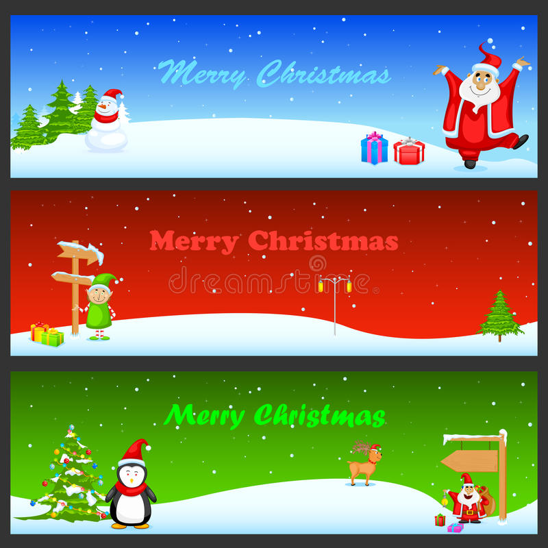 Download Christmas Banner stock illustration. Image of decorative - 34768317