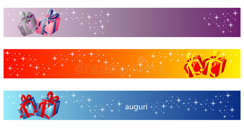 Christmas Banner - Gift Collection stock illustration