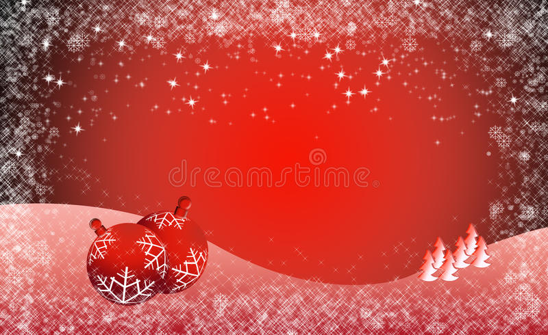 Christmas Banner Red Background royalty free stock images