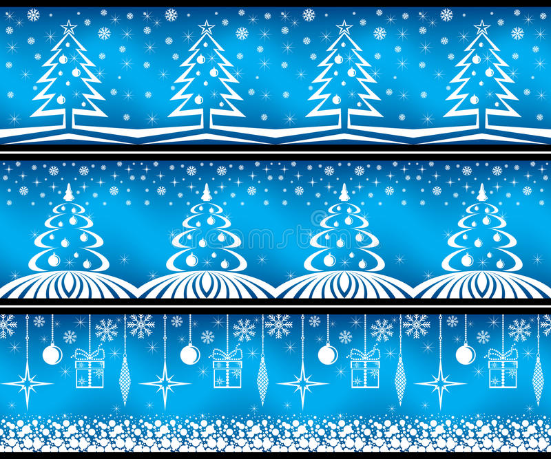 Download Christmas banner set. stock vector. Image of white, snowflake - 11651979