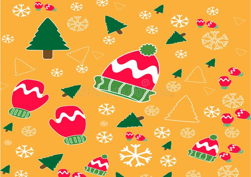 Christmas banner vector background template colorful elements like gifts and decorations royalty free illustration