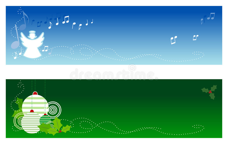 Download Christmas Banners #1 stock vector. Image of song, green - 3577048