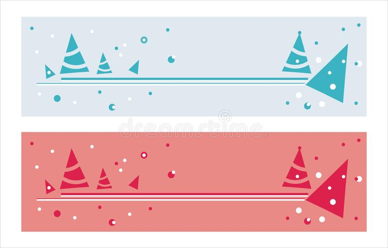 Christmas Banners Royalty Free Stock Photography