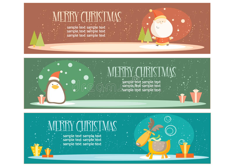 Download Christmas banners stock vector. Image of christmas, silhouette - 11850198