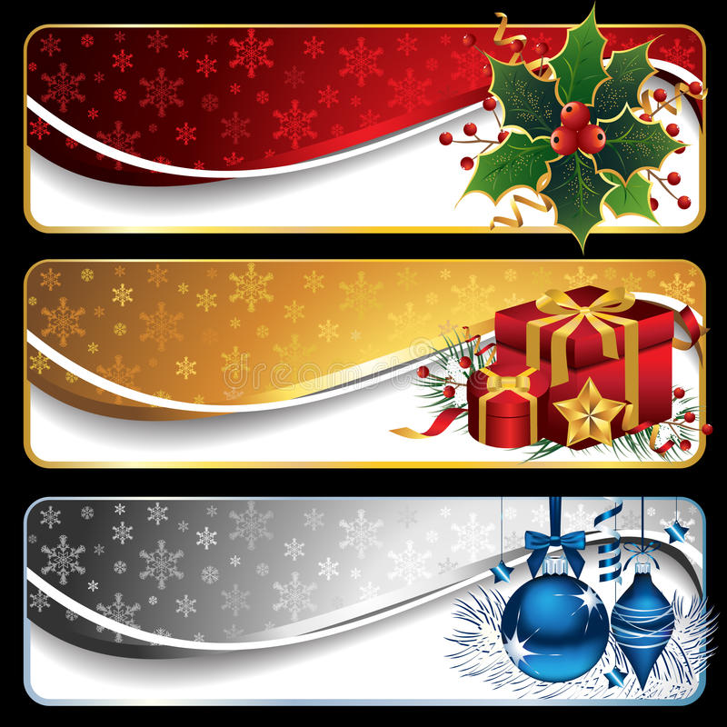 Free Christmas Banners Royalty Free Stock Photos - 17102828