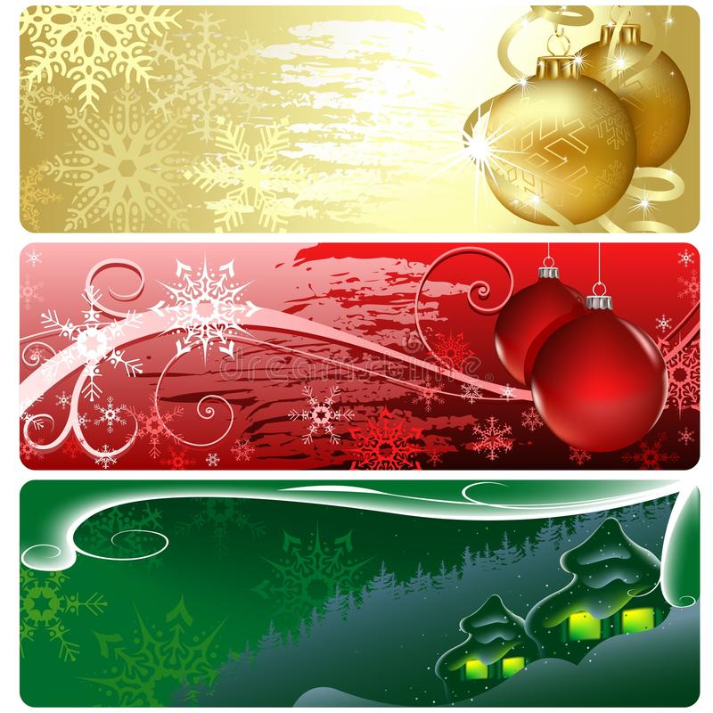 Download Christmas Banners stock vector. Image of cottage, abstract - 26547249