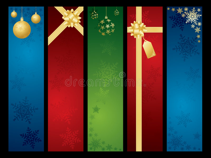 Download Christmas banners stock vector. Image of gold, label, accessory - 6787277