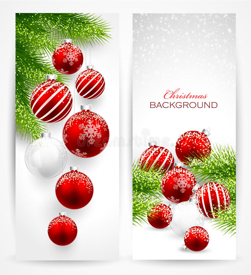 Christmas banners. On light background. Vector
