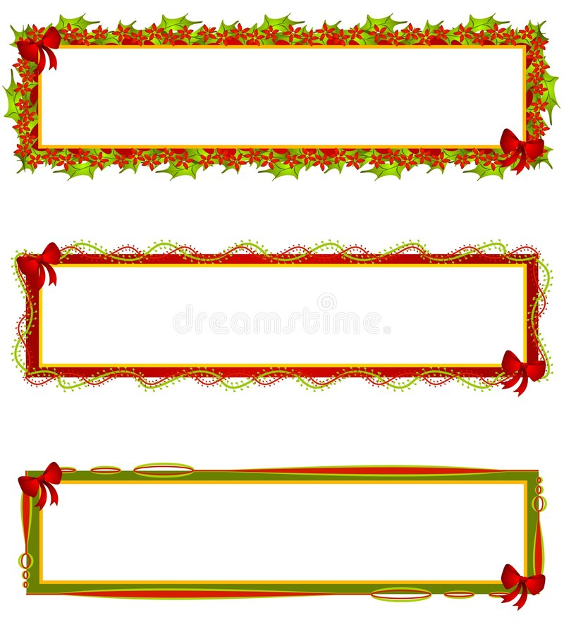 Christmas Banners Logos Labels vector illustration