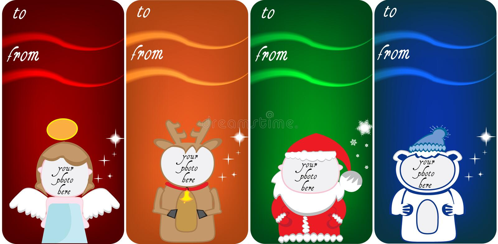 Christmas banners for photos royalty free illustration