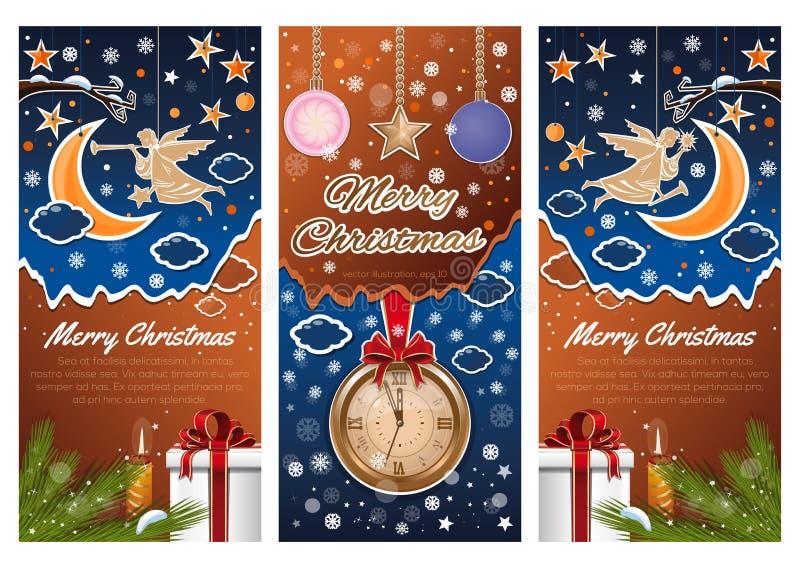 Christmas banners set vector illustration