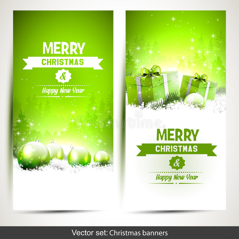 Download Christmas banners stock photo. Image of bright, commercial - 43245662
