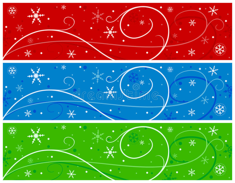 Download Christmas Banners With Snowflakes Stock Photography - Image: 22026452