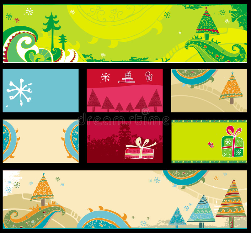 Download Christmas Banners, Vector. Royalty Free Stock Images - Image: 6952999