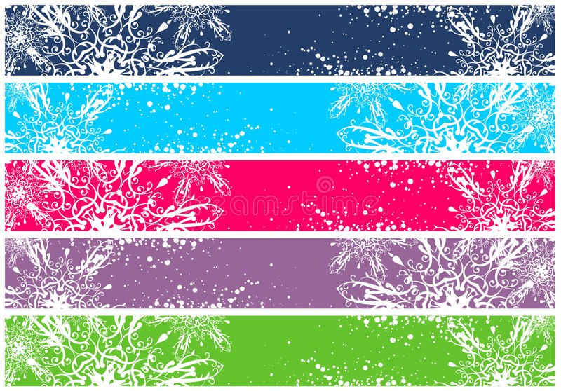Christmas Banners For WWW Stock Images
