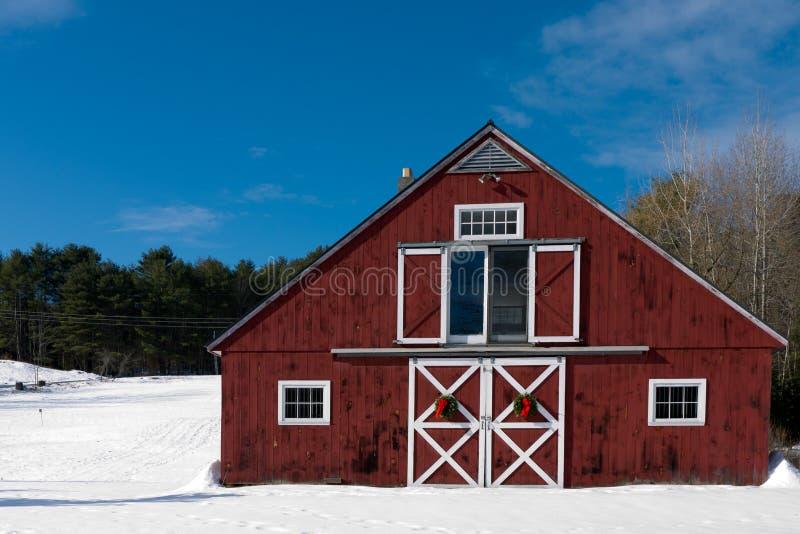 Christmas Barn stock photography