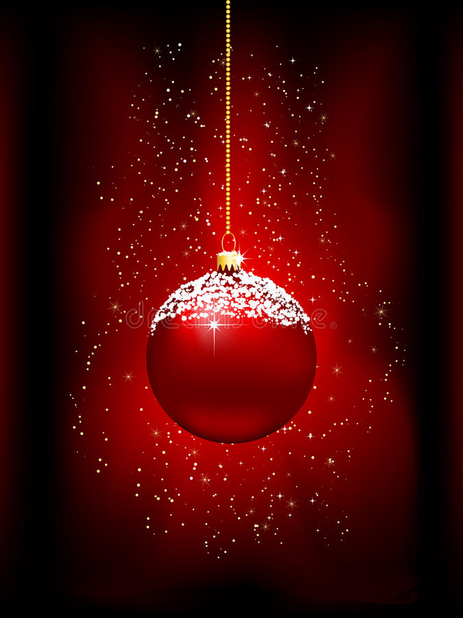 Christmas bauble background vector illustration