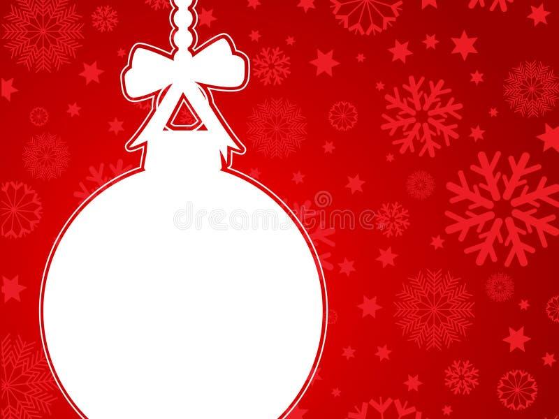 Christmas bauble background royalty free illustration