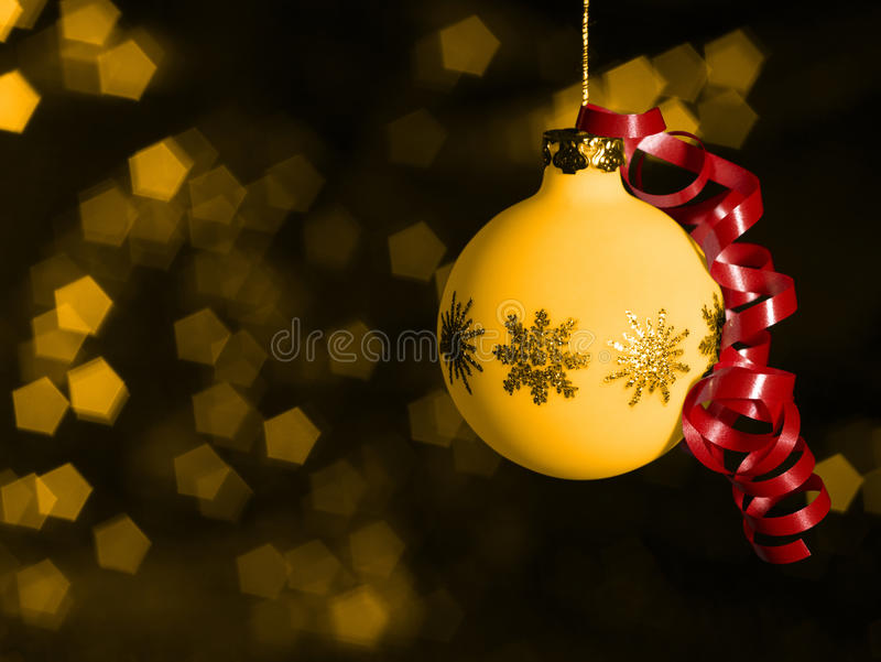 Download Christmas Bauble In Blurry Back Stock Photo - Image: 25976336