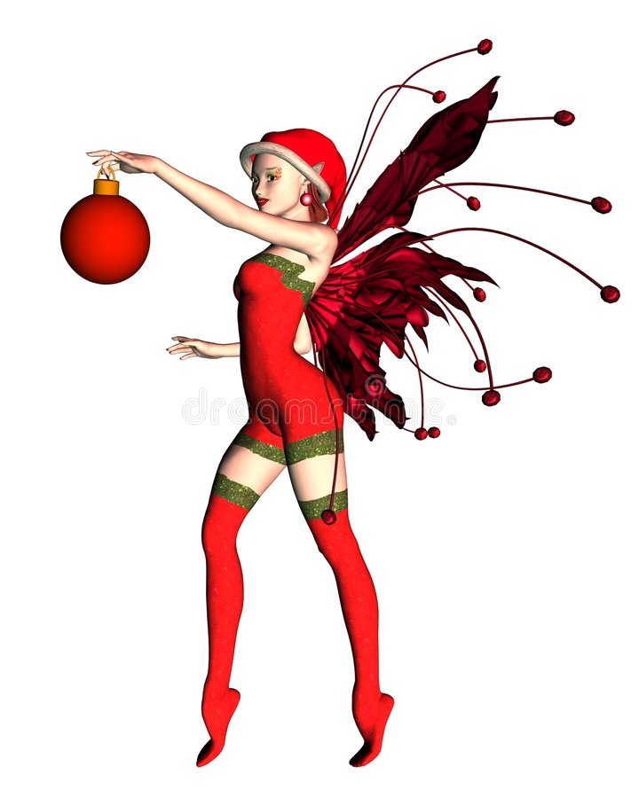 Christmas Bauble Elf - 2 Royalty Free Stock Images