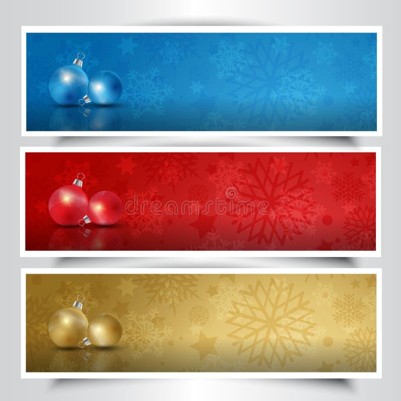 Christmas bauble headers stock illustration