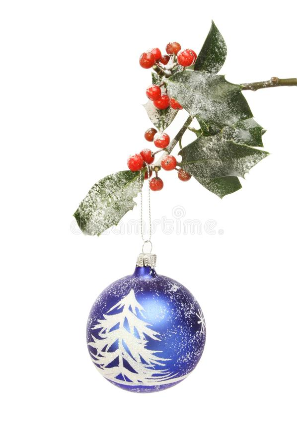 Download Christmas bauble in holly stock image. Image of ball - 105387427