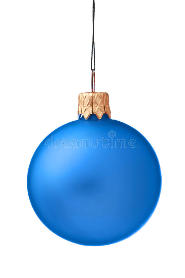 Christmas bauble isolated royalty free stock photography