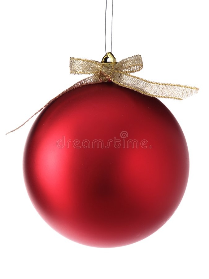 Christmas bauble isolated stock image