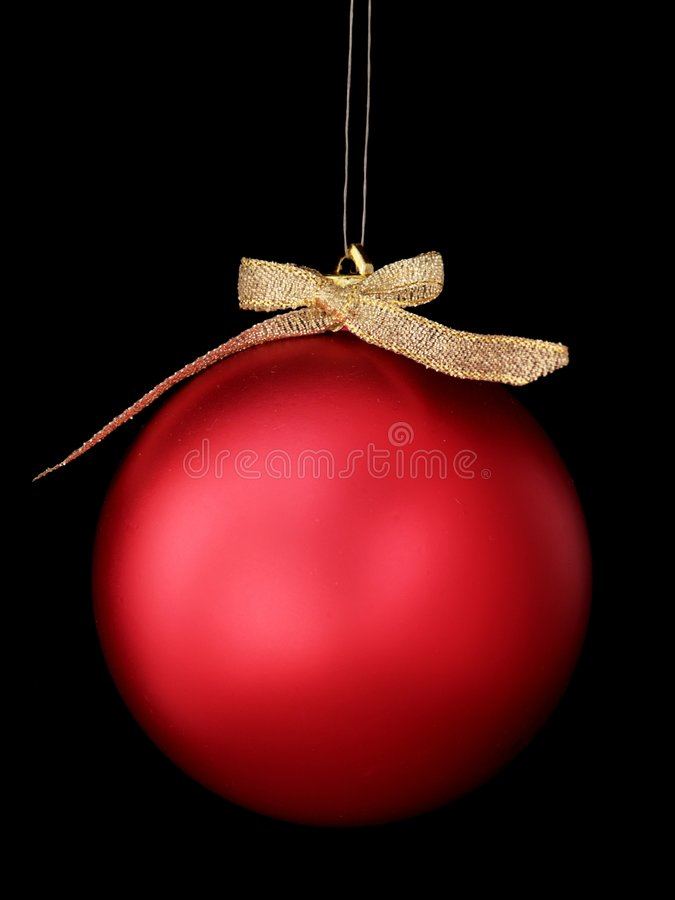 Christmas bauble isolated stock photography