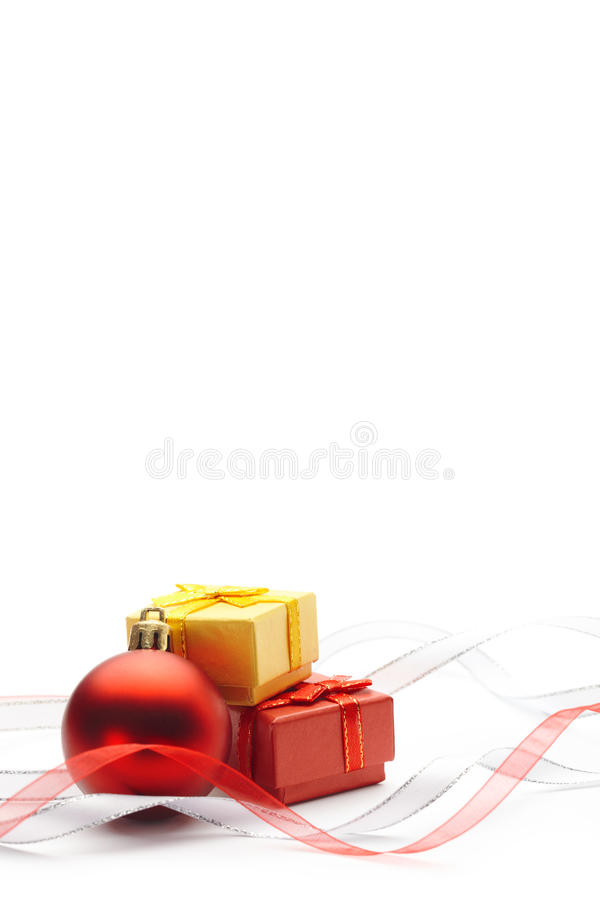 Download Christmas Bauble And Ribbon Stock Photo - Image: 27527744