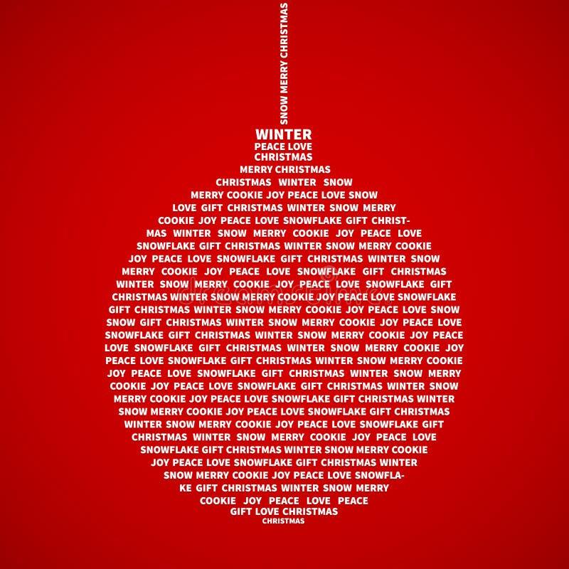 Christmas bauble vector illustration