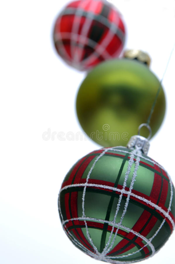 Download Christmas baubles stock image. Image of hang, green, three - 11153387