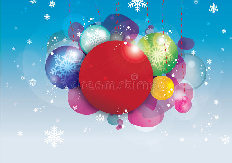 Download Christmas baubles stock illustration. Image of snowflakes - 17260729