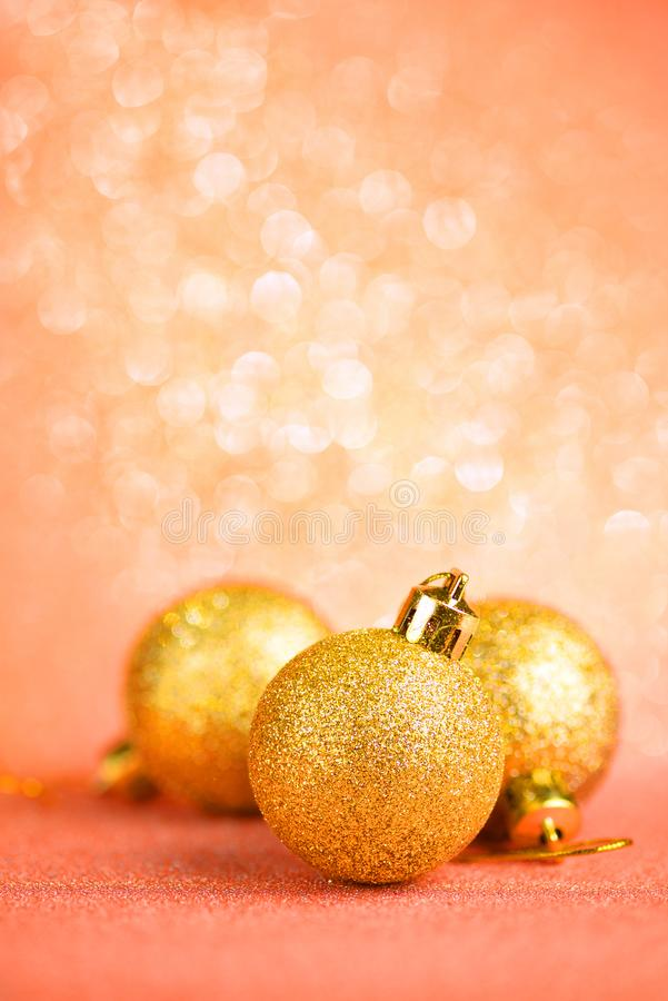 Christmas baubles on abstract background royalty free stock photography