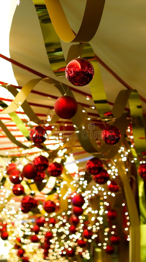 Free Christmas Baubles And Ribbons Stock Photos - 3324073
