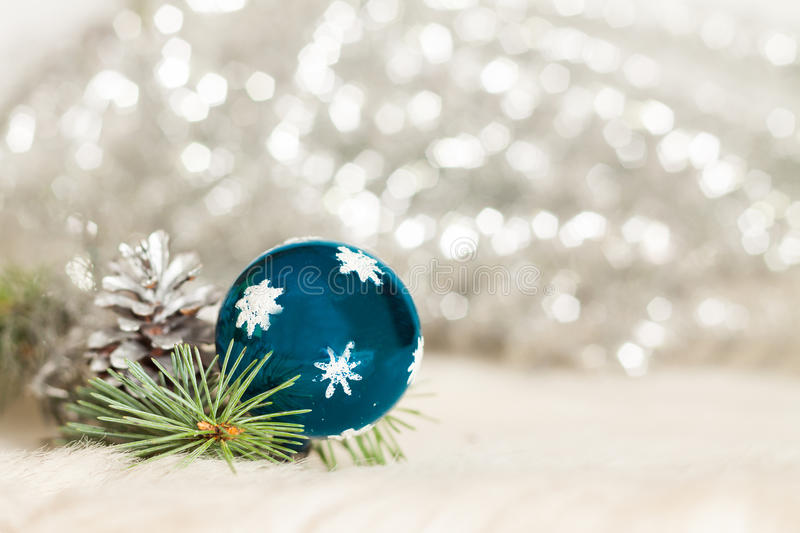 Christmas baubles background stock photos