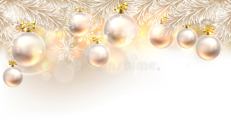 Christmas Baubles Background royalty free illustration