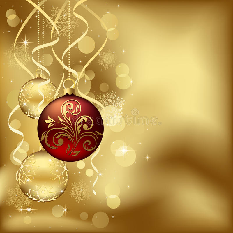 Download Christmas Baubles With Blurry Lights Stock Photo - Image: 21873840