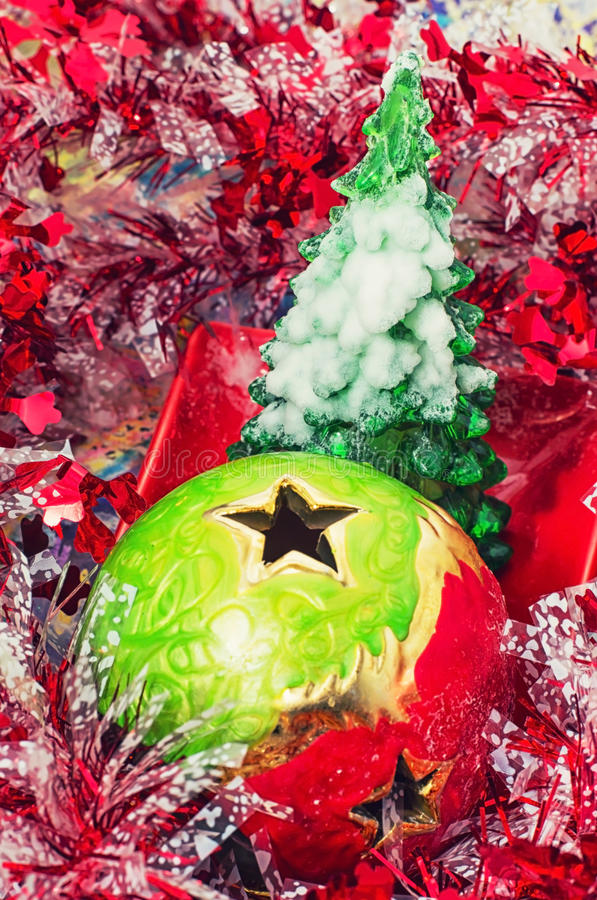 Download Christmas Baubles And Decorations Stock Photo - Image: 35414828