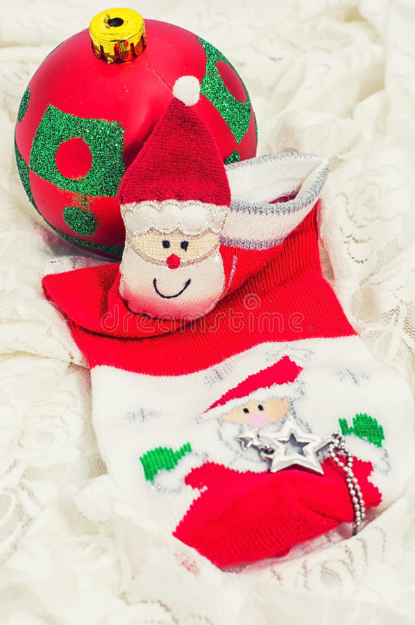 Download Christmas Baubles And Decorations Stock Photo - Image: 35414854