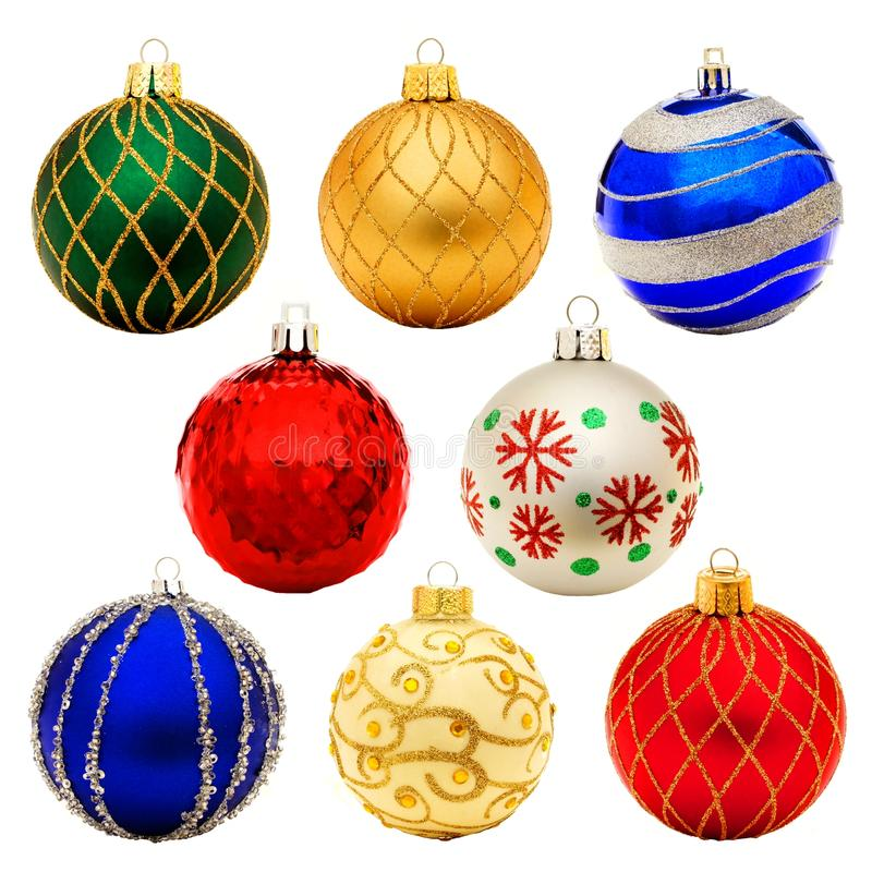 Christmas Baubles Stock Photo Image Of Isolated