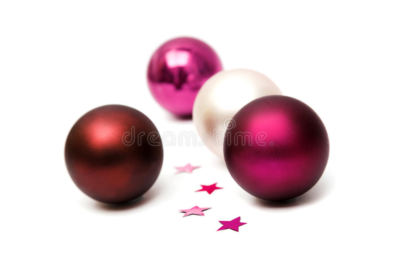 Christmas baubles isolated stock photos