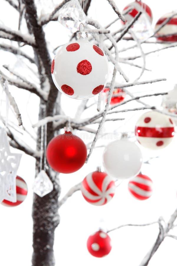 Christmas baubles ornaments decoration stock photos