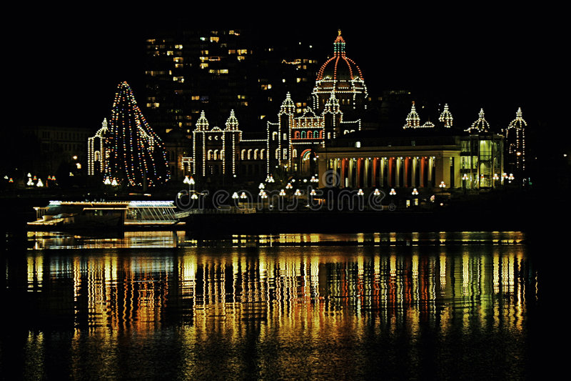 Christmas BC Legislature stock photo