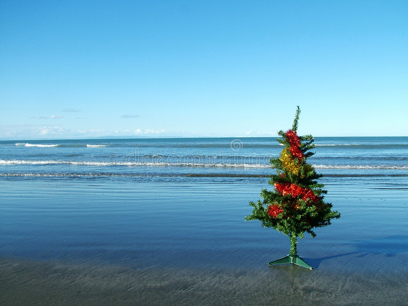 Christmas at the beach royalty free stock photography