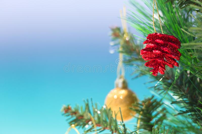 Christmas beach background stock images