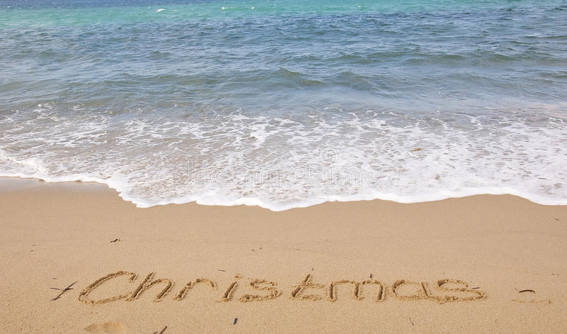 Download Christmas On The Beach - There's Nothing Better! Stock Photo - Image: 11117000