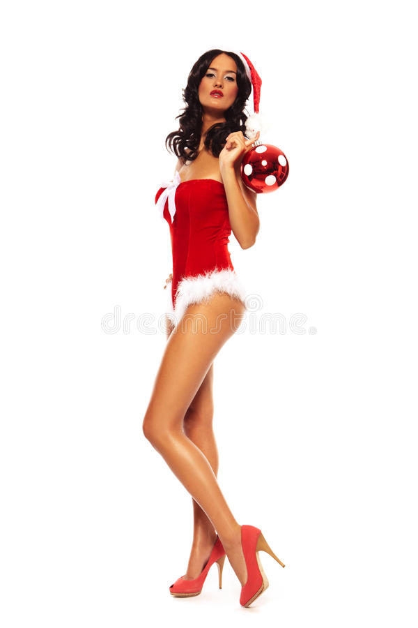Christmas Beauty on white background stock images