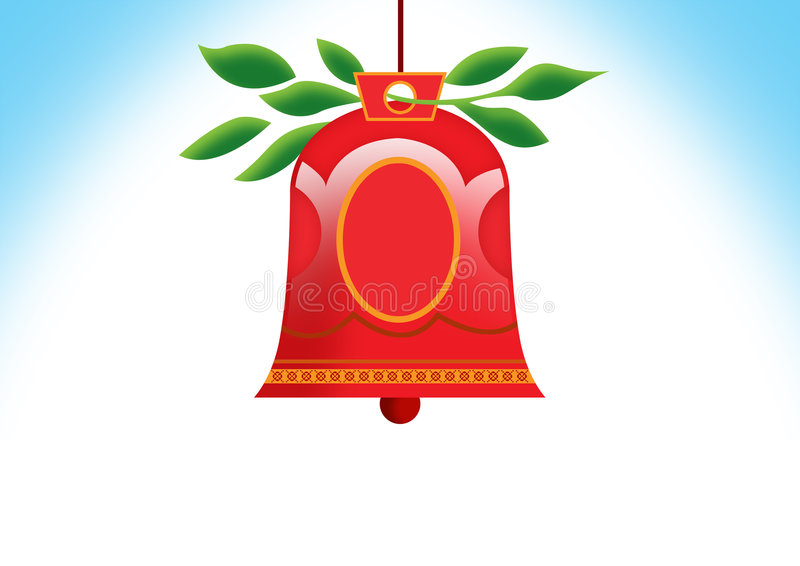 Christmas bell royalty free illustration